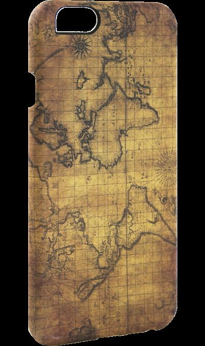 Чехол-крышка i-Paint MAP для Apple iPhone 6/6S, пластик, узор