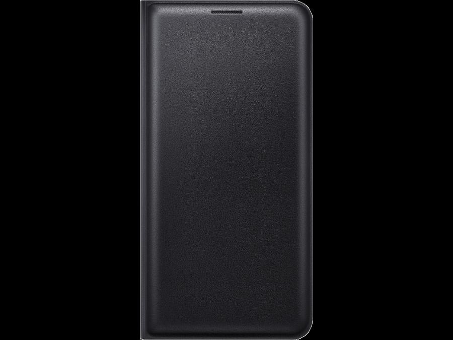 Чехол-книжка Samsung FLIP WALLET COVER для Galaxy J7 (2016), полиуретан, черный