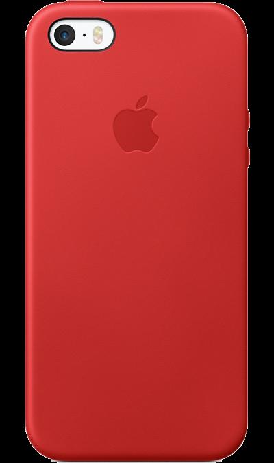 Чехол-крышка Apple Case MNYV2ZM/A для Apple iPhone 5S/SE , кожа, красный